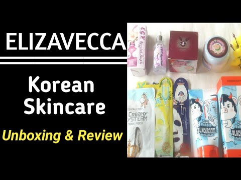 Elizavecca Skincare Unboxing & Review | Korean skincare | Merriness