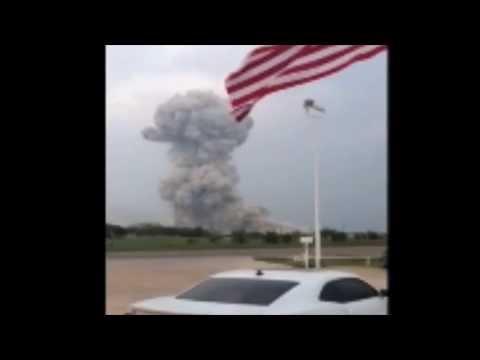 Raw Footage Of Texas Fertilizer Plant Blast on 4/17/13