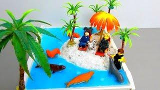 How To Make A Miniature Island in Ocean Zen Garden for Lego Toys