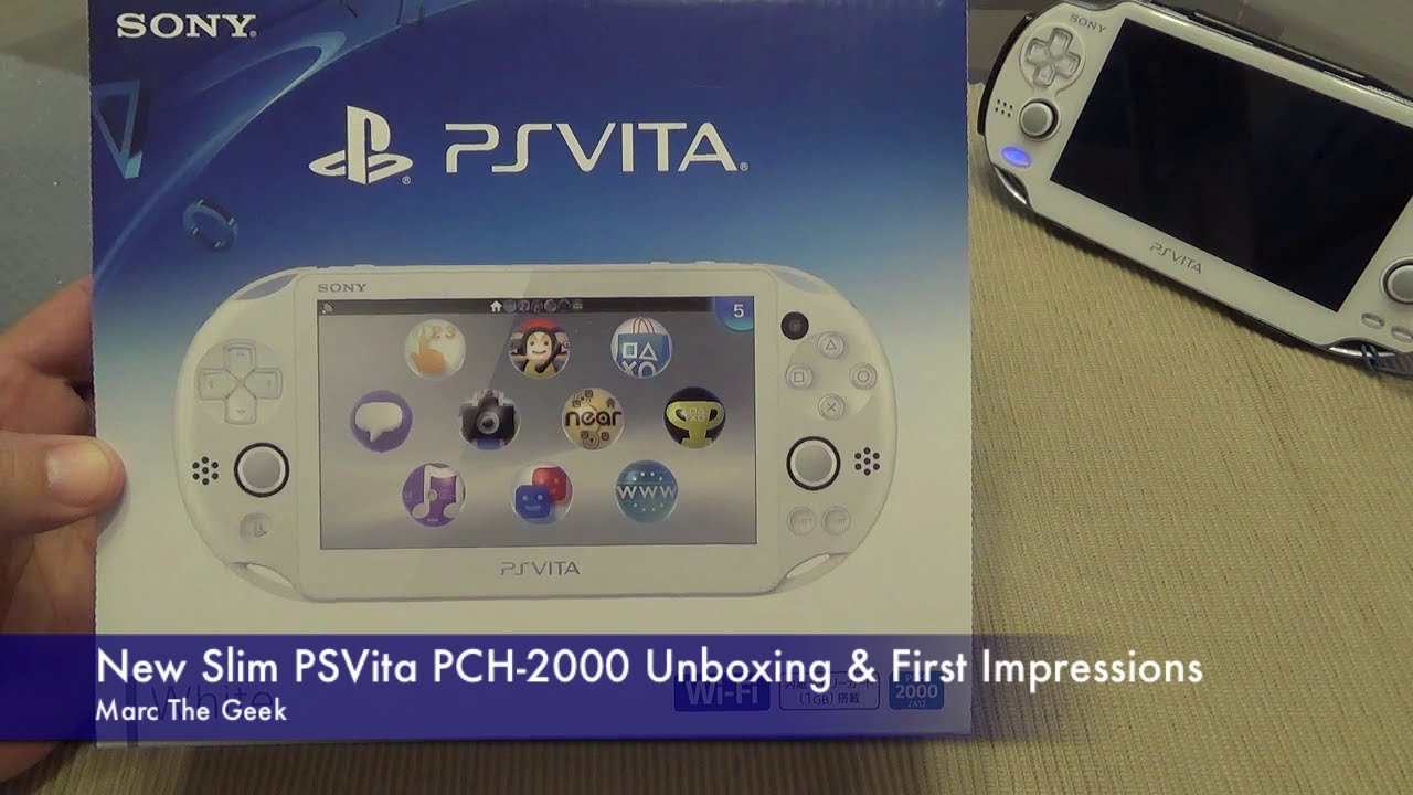 New Slim Psvita Pch 2000 Unboxing First Impressions Youtube