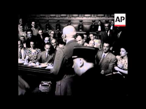 Petain On Trial - 1945
