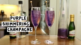 The New Year's Purple Shimmering Champagne
