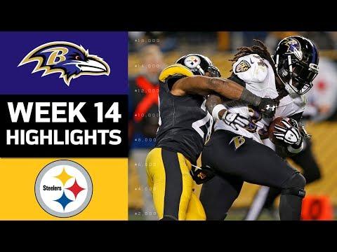 Ravens vs. Steelers | NFL Week 14 Game Highlights