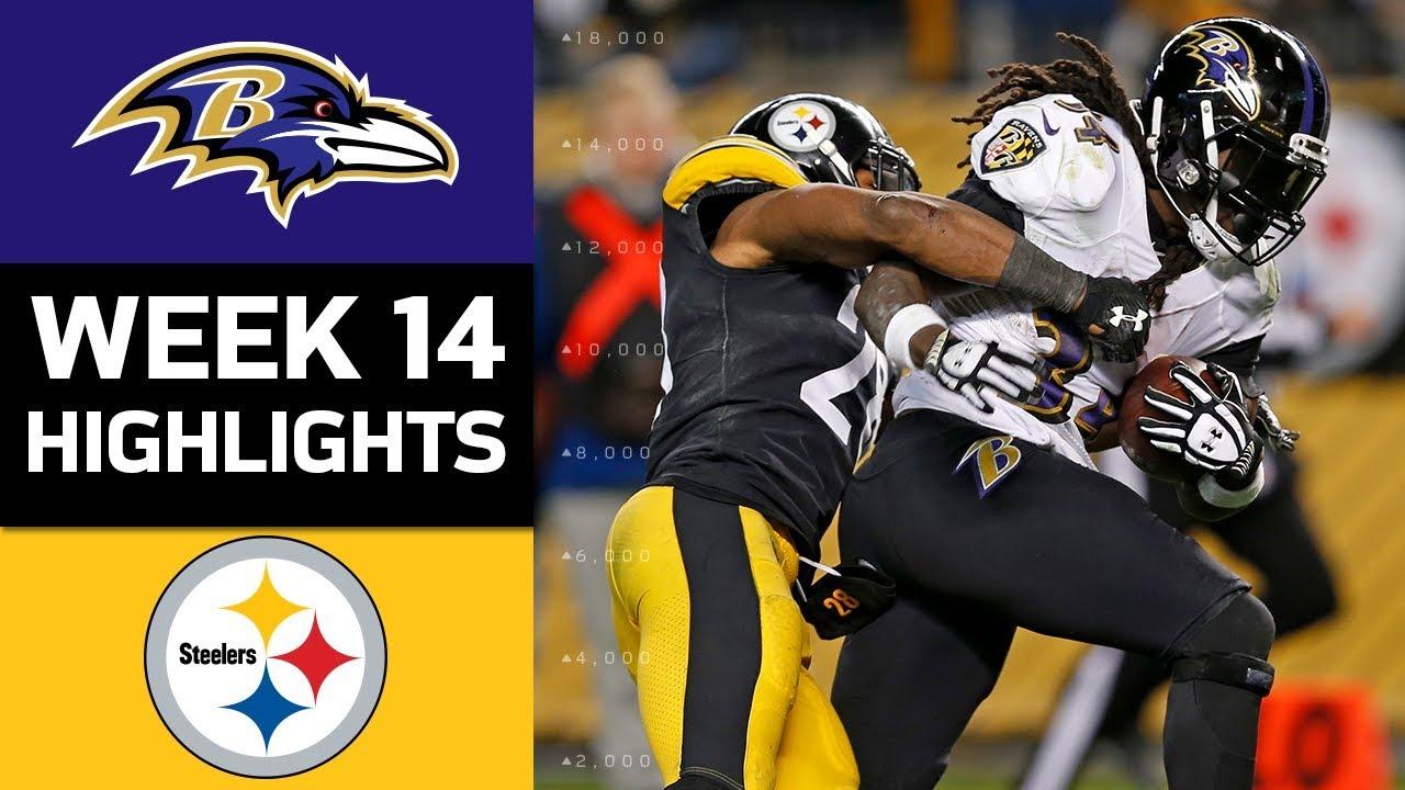 Ravens vs Steelers NFL Week 14 Game Highlights