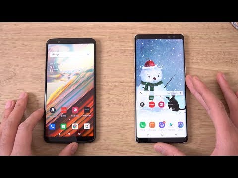 OnePlus 5T vs Samsung Galaxy Note 8 - Speed Test!