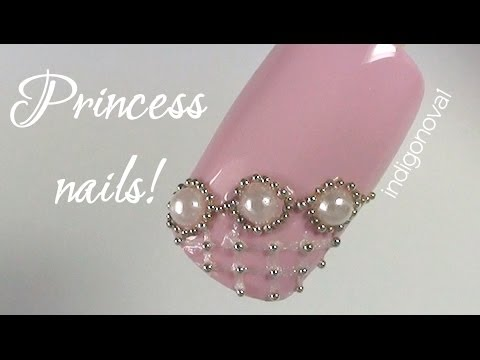Pearls, Beads & Lace Nail Art Tutorial - Collaboration