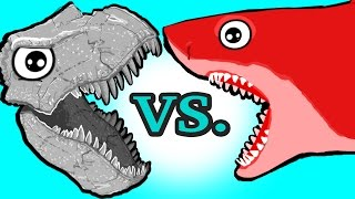 MINI TOYS! My Cute Shark Attack Cartoon #31 (TOYS Dino Vs. TRUCK Shark ! +BEST OF) kids cartoons!