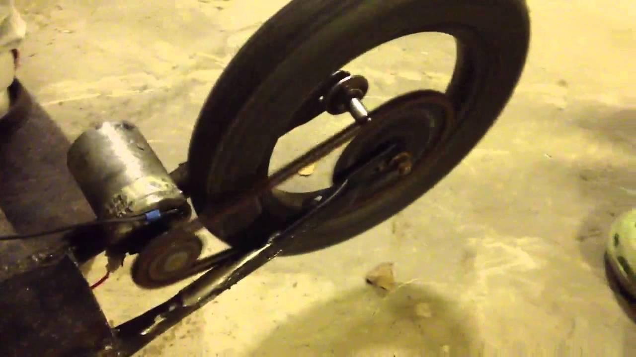 Homemade Electric Scooter Kickbike Prototype Youtube