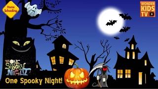 어느 으스스한 밤, 숲 속에서 일어나는 반전의 이야기. one spooky night- pop up book-드라큐라, 흡혈귀, 마녀, 미라, 할로윈