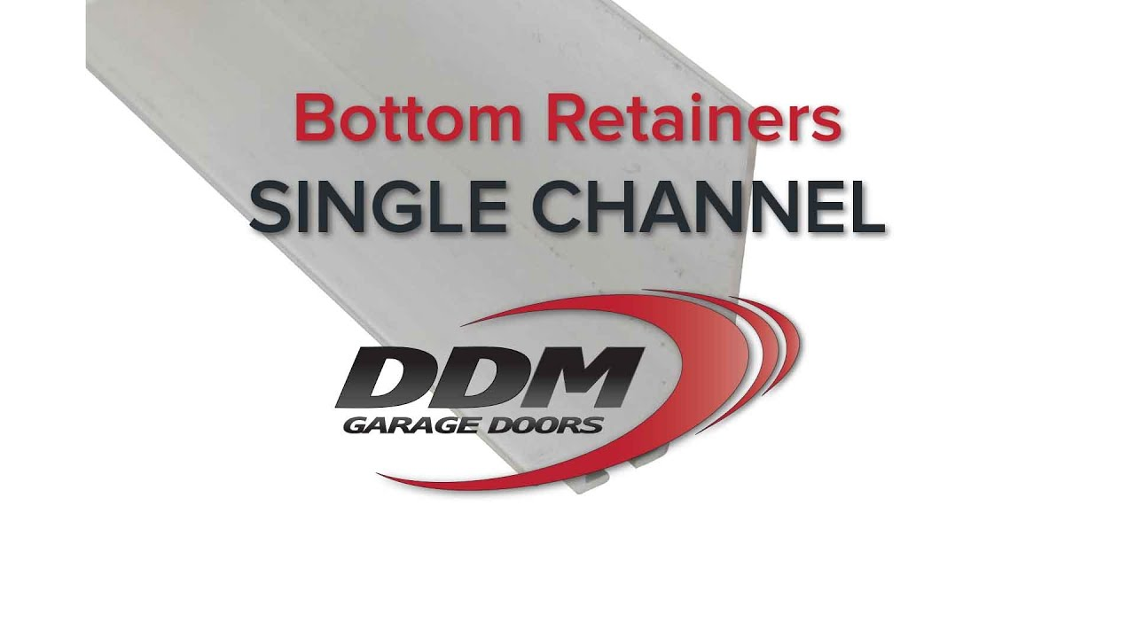 Garage Door Bottom Seal Retainers Single Channel Youtube