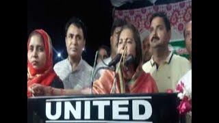Jaya Prada challenges Azam Khan during Rampur rally