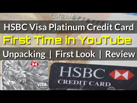 HSBC Visa Platinum Credit Card Unboxing & Review in India | Benefits
