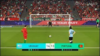 URUGUAY vs PORTUGAL | Penalty Shootout | PES 2018 Gameplay PC