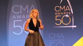 """Carrie Underwood Was """"Flabbergasted"""" By All the Legends at CMA Awards 50"""