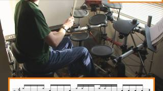 How To Play Linear Gospel Drum Beats (Free Drum Lesson)
