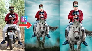 Horse Riding Photo Editing Tutorial | Super Heavy PicsArt editing