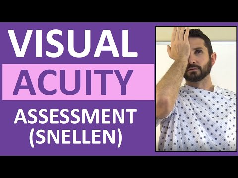 Visual Acuity Test With Snellen Eye Chart Exam Cranial Nerve 2