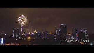 New years eve fireworks in Tallinn, Estonia