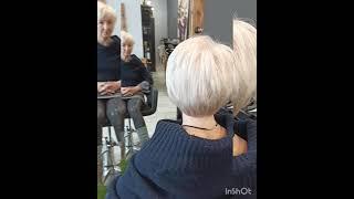 Короткая женская стрижка Short female haircut стрижка женскаястрижка haircut shorthaircut