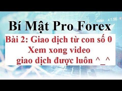 Bí mật Pro FOREX | Bài 2 : Bắt đầu giao dịch FX Từ Con Số 0 | Hướng dẫn chọn sàn Forex – Cài Đặt MT4