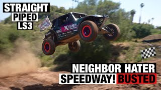 Neighborhood Calls Cop on V8 Trophy Truck at Home Track...IT WAS A BAD IDEA