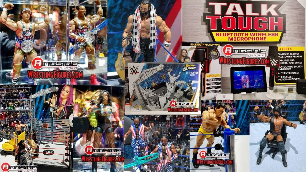 new wwe mattel figures new york toy fair 2018 day one youtube