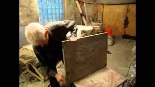 Телегу зимой Делаем стеновые плиты.Надежные стеновые плиты для дома.