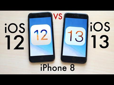 iPHONE 8: iOS 13 Vs iOS 12! (Comparison)