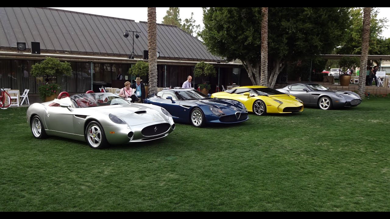 Four Zagato Cars An Alfa Romeo Two Ferrari S A Lamborghini On