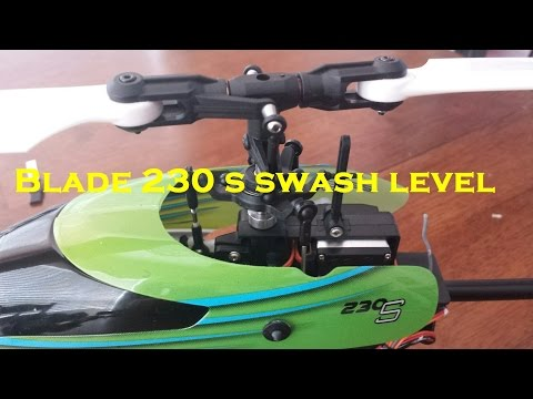 Blade 230 s swash leveling and setting 0 pitch at mid stick