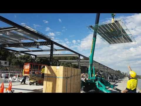 Coal Loader. Balls Head, North Sydney. Mounting ONYX solar glass