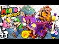Super Mario 3D World: 2P Co-Op! - Bowser Boss PART 3 (Nintendo Wii U HD Gameplay Walkthrough)