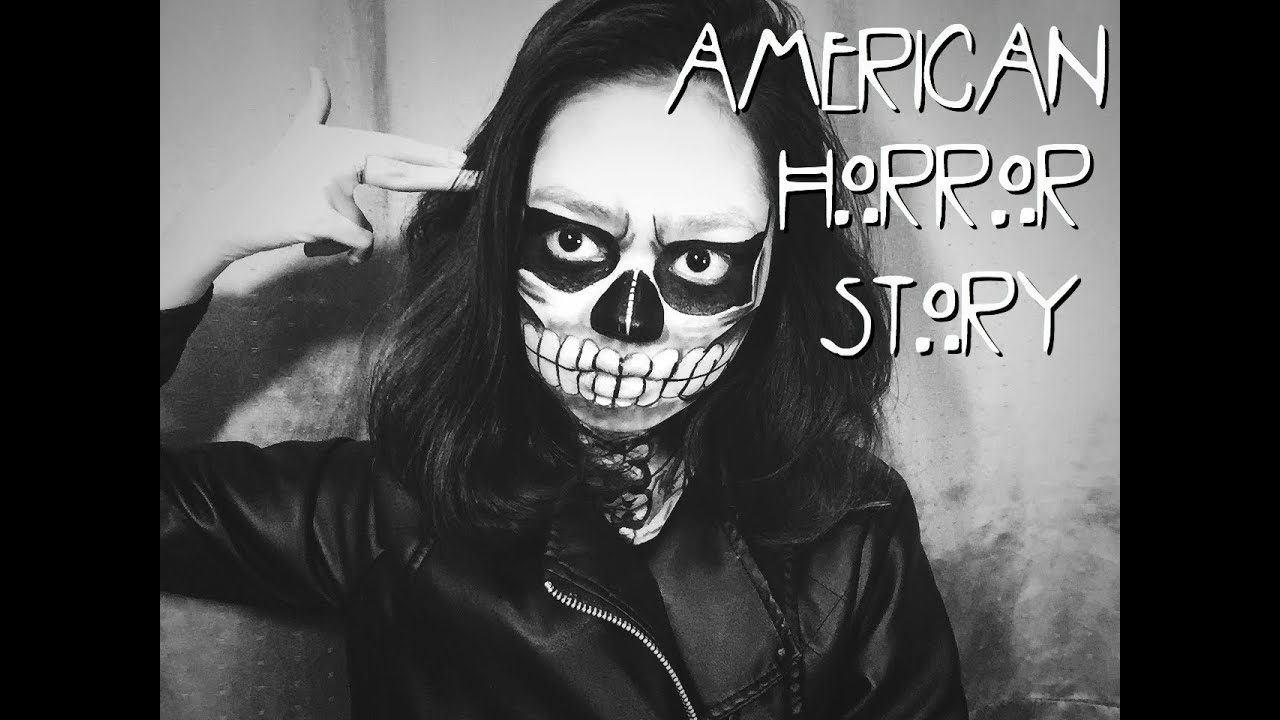 Skull Face Makeup Tutorial American Horror Story Sfx You
