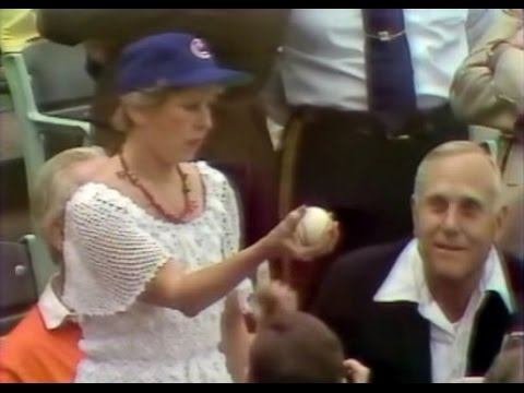 "WGN Channel 9 - Chicago Cubs Baseball - ""Mayor Jane Byrne Throws Out The First Pitch"" (1981)"