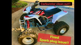 Yamaha blaster carburetor clean out & adjustments/fixed some other issues