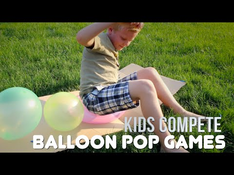BALLOON POPPING CHALLENGES | Kids Compete!