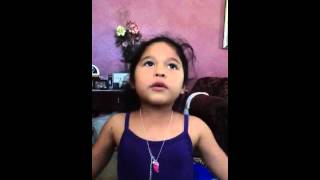 lil girl singing baby kaely heaven (cover)