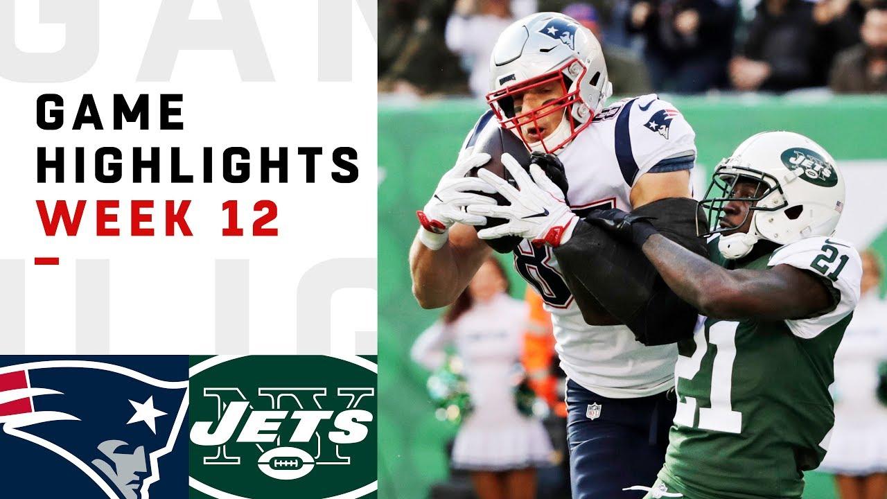 Patriots vs. Jets Week 12 Highlights | NFL 2018