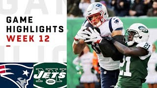 Patriots vs. Jets Week 12 Highlights | NFL 2018