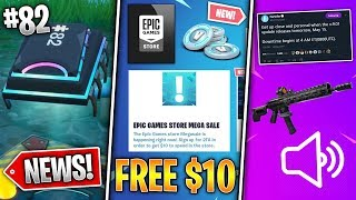 Free $10, v9.01 Update Tomorrow, Tactical Assault Rifle, Fortbyte #82 Location! (Fortnite News)