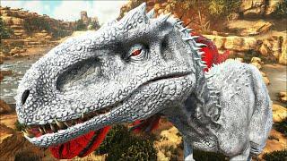 Download Video Novo Indominus Rex! Disputando o Lago dos Espinossauros + T Rex! Ark Survival Evolved MP3 3GP MP4