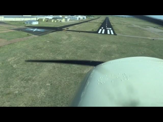 Cessna 150 N5937G turbulent landing at Meadowlake airport (KFLY)