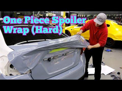 One Piece Spoiler Vinyl Wrap Duck Bill Spoiler Wrap Subaru STI