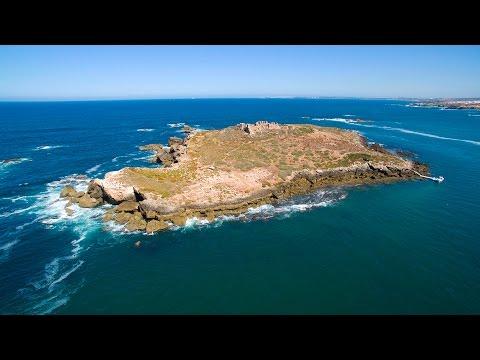 Ilha do Pessegueiro aerial view - Porto Covo - 4K Ultra HD