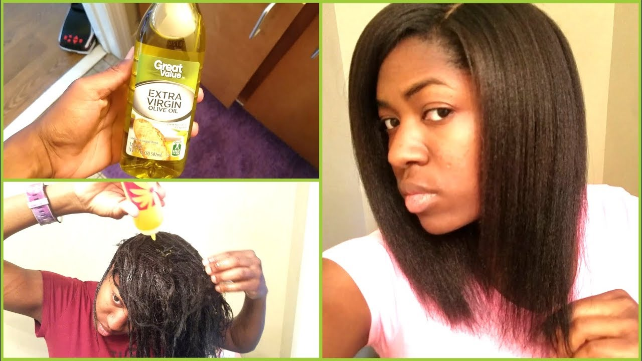 hot oil treatment on my relaxed hair 2017 + results
