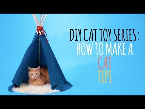 DIY Cat Toys - How to Make a Cat Tipi