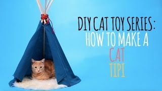 DIY Cat Toys - How to Make a Cat Tipi