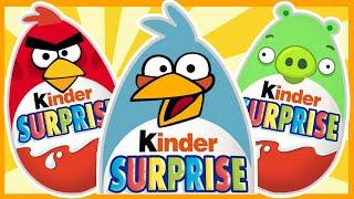 Киндер сюрпризы Энгри Бёрдс. Angry Birds. Злые Птички.