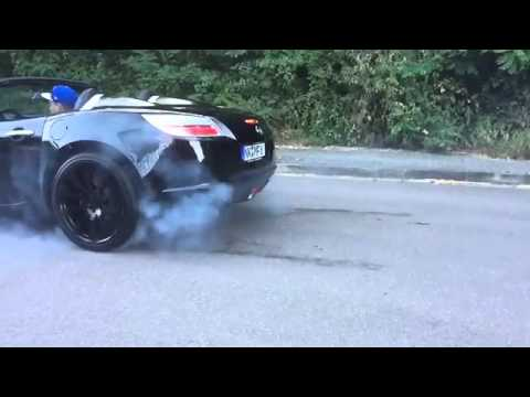 Opel GT Burnout Saturn Sky Pontiac Solstice  YouTube