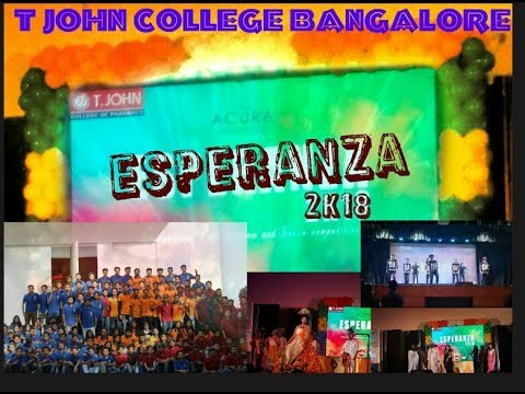 ESPERANZA 2K18| T John college of Pharmacy| Dance and Fashion show.
